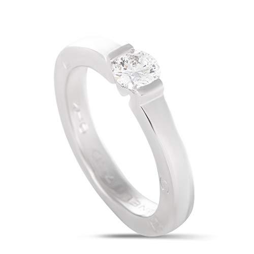 Chanel White Ring - Chanel (Est.) Chanel Estate 18K White Gold Diamond Solitaire Engagement Ring