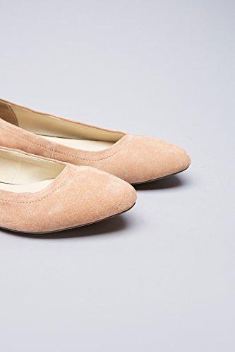 Bånd rosa Ankel Skinn Kvinners Ballett Leiligheter Med I Rosa Finne Strap Semsket nzS0WdU