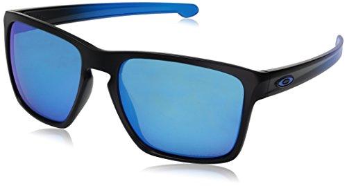 (Oakley Men's Sliver Xl Non-Polarized Iridium Rectangular Sunglasses, Ruby Fade, 57 mm)