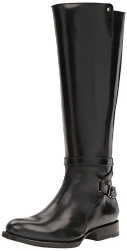 FRYE Women's Jordan Strap Tall Riding Boot, Black, 10 M US by FRYE