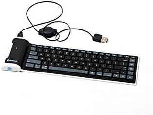 LinDon-Tech bastante portátil inalámbrico impermeable lavable silicona Flexible enrollable Bluetooth teclado para Tablet, Smartphone, ordenador ...