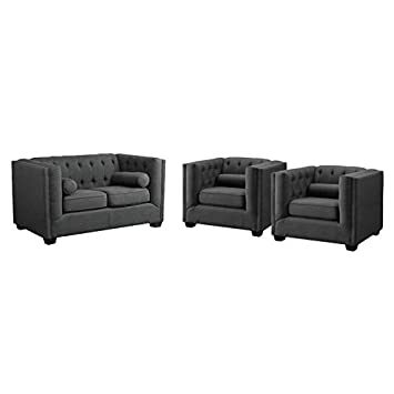 Astonishing Amazon Com Home Square 3 Piece Sofa Set With Loveseat And Unemploymentrelief Wooden Chair Designs For Living Room Unemploymentrelieforg