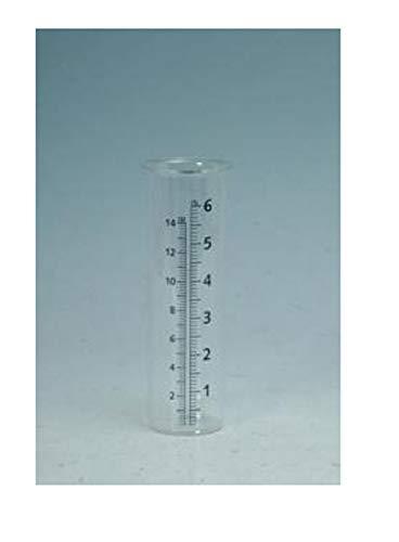 "Mayrich Co. 2""x 7"" Glass Rain Gauge Replacement Jar 0445"