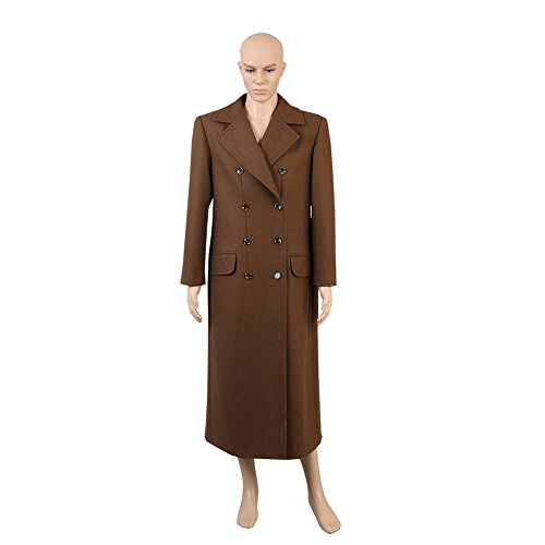 [Doctor Who Tenth Doctor David Tennant Long Coat Suits Cosplay Costume Brown] (David Tennant Who Costume)