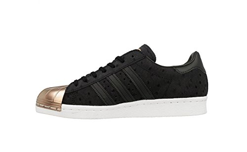Adidas Damen Superster 80 Metalen Verpakking Sneaker Kern Zwart / Kern Zwart / Vap