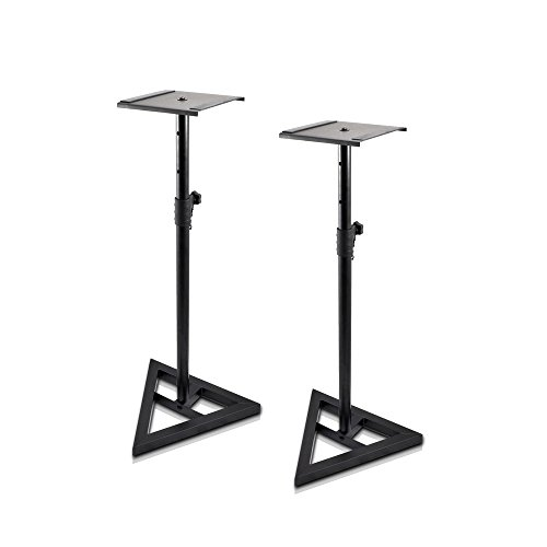 (Pyle Sonos Speaker Stand Pair of Sound Play 1 and 3 Holder - Telescoping Height Adjustable from 26
