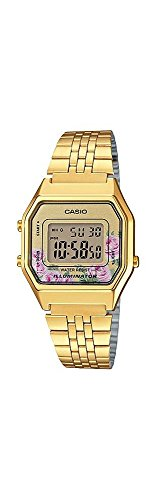 Casio LA680WGA-4C Women's Vintage Gold Tone Alarm Digital Watch