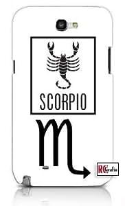 Cool Painting Scorpio Sign Zodiac Horoscope Symbol Unique Quality Soft Rubber Case for Samsung Galaxy S4 I9500 - White Case