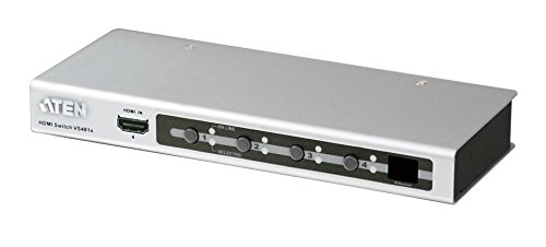 ATEN 4-Port HDMI Switch VS481A (Silver) by ATEN