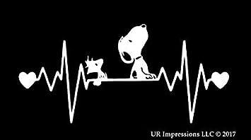 Supersticki Herzschlag Snoopy Ca 20cm Auto Aufkleber Decal Fun Tuning Car Aus Hochleistungsfolie Aufkleber Autoaufkleber Tuningaufkleber