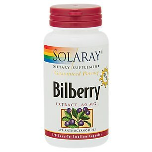(Solaray - Bilberry Extract, 120 capsules )