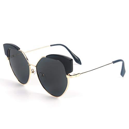Fepelasi Lens Protection Lunettes Gray 100 UV400 Soleil Lunettes de Femme polarisées Gold Frame pour Classic Soleil Retro de xxTrH
