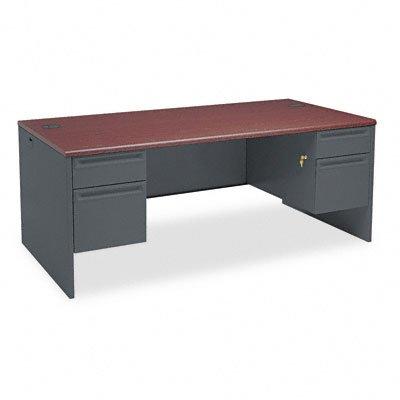 HON38180NS - HON 38000 Series Double Pedestal - Pedestal Desk Oak Hon Company