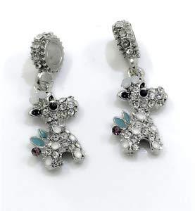 DIY Giraffe Silver European Pendant Crystal Charm Beads Fit Necklace Bracelet !