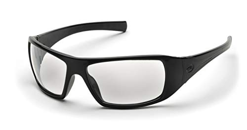 Pyramex Goliath Safety Eyewear, Black Frame, Clear Lens