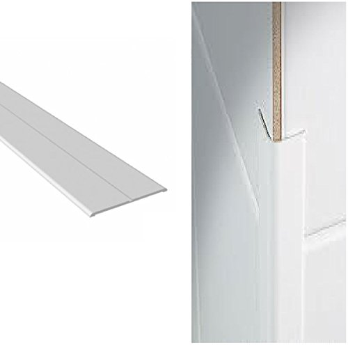 White UPVC Plastic Flexible Angle Trim 48mm x 48mm x 2.5 Metres in Length by - Trim Angle Plastic