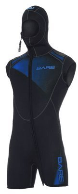 Bare 7mm Sport Men's Step-in Hooded Vest for Scuba Diving (XL, (Bare Dive Suits)