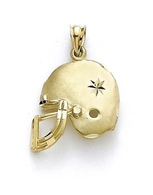 14 Carats Pendentif Casque De Football-JewelryWeb