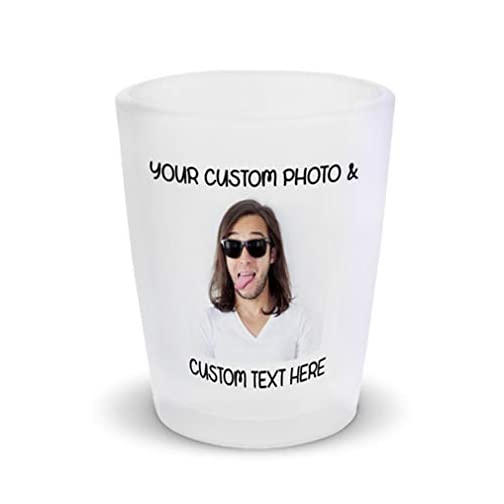 Shot Glasses Bar Accessories Custom Personalized Photo Picture & Text Alcohol Bar Supplies 1 Shot Ceramic 2 Oz |