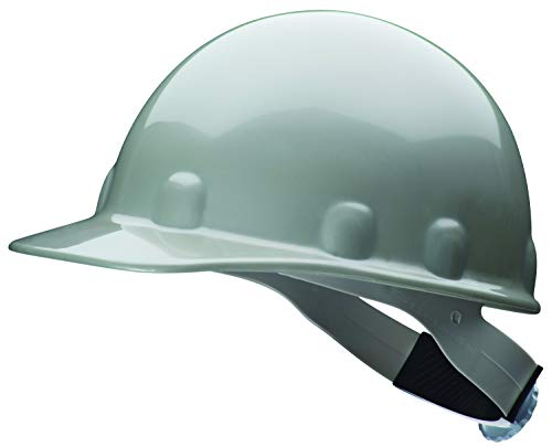Fibre-Metal by Honeywell SuperEight Thermoplastic Cap-Style Hard Hat with 8-Point Ratchet Suspension, Gray ()