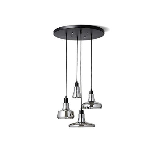 - Mengzhu-Michelle LED Modern Glass Pendant Lamp Loft Dining Room Hanging Lamp Indoor Living Room Creative Hanging Lamp Minimalist Design Adjustable Height; R Villa Restaurant Cafe Study