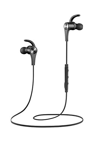 SoundPEATS Bluetooth Headphones in Ear Wireless Earbuds 4.1 Magnetic Sweatproof Stereo Bluetooth Earphones for Sports with Mic (Black New)