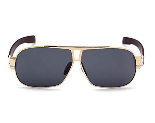 Lunettes en UV400 métal soleil lunettes Cadre soleil unisexe de de de polarisées Golden pour protection l'extérieur conduisant lunettes FlowerKui qS5OF75