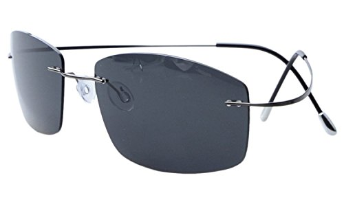 Eyekepper Rimless Titanium Frame Polarized - Wire Frame Sunglasses Mens