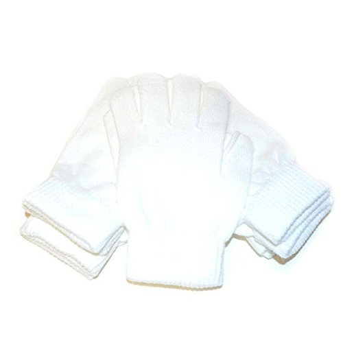White Gloves - Regular Size Magic Stretch Spandex Acrylic...
