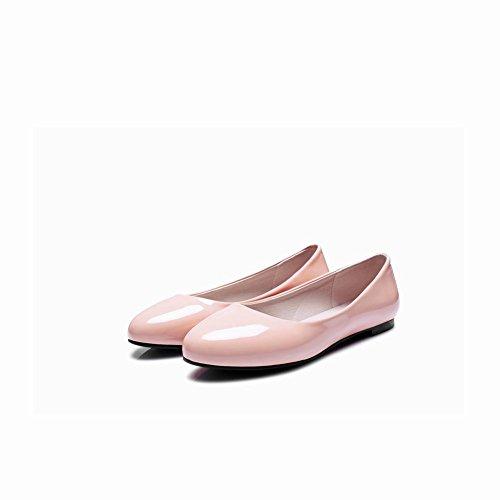 Latasa Dames Kunstlederen Slip-slip Op Ballerinas Roze