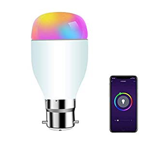 SIPAILING Smart Light Bulbs Work with Alexa Google Home and IFTTT, Dimmable WiFi LED Smart Bulb, Multi-Color, No Hub…
