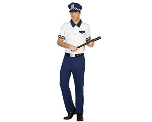 Atosa 31544 - Policeman Mens Costume, Size XS - 30/32