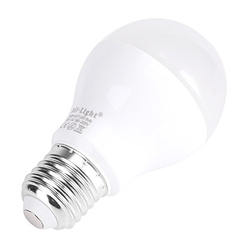 Milight E27 6W LED Bulb RGB+CCT WiFi Smartphone APP Wireless Control  Android and iPhone System Variables 2700K-6500K Series