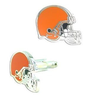 NFL Cleveland Browns Cut Out Logo Cuff Link, Silver