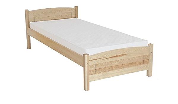 Somier/cama en madera natural{80} maciza de pino, con ...