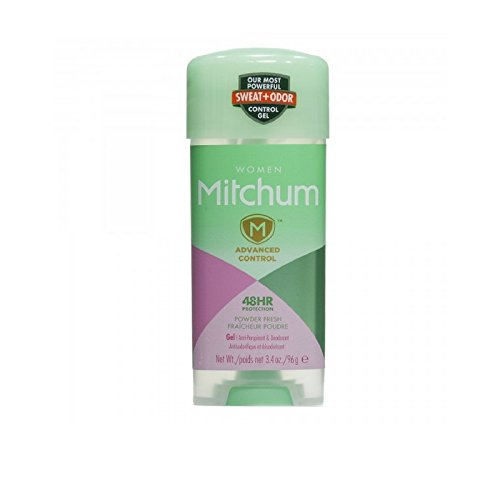 Mitchum For Women Advanced Control Anti-Perspirant Deodorant Clear Gel, Shower Fresh 3.4oz ( Packs of 5)