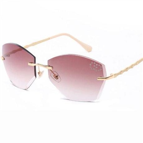 de montura gradual sin Gafas GGSSYY Diseñador la con Púrpura Pink corte de Gafas sol graduadas mujer marca para cuadradas IqIatz7w
