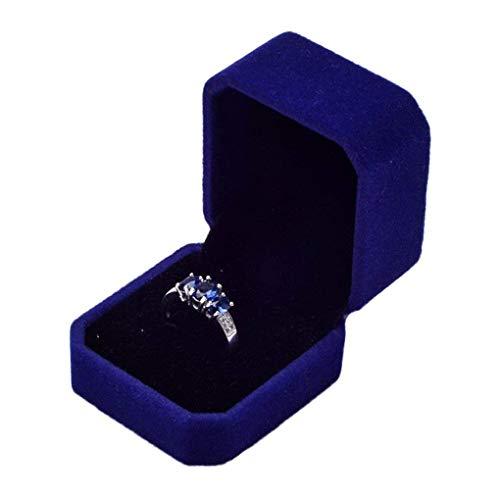 TOOGOO Velvet Engagement Wedding Ring Earrings Gift Box Jewelry Boxes Display Storage Ca Sapphire - Rings Engagement Ca