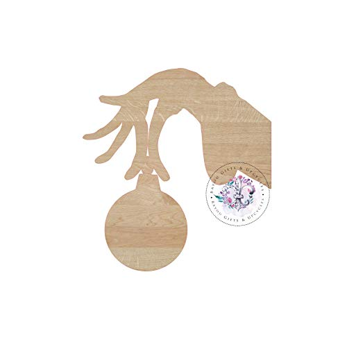 MarthaFox Grinch Hand Ornament Wooden Cutout Unfinished Wooden Blanks Wooden Shapes Wooden Wreath Shapes Wooden Door Hangers Shape Blanks]()