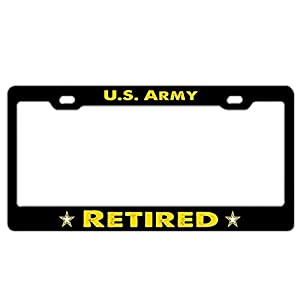 Funny License Plate Frame Holder, Customized Black Aluminum Metal License Plate Cover, Auto Car Tag Frame for US Standard from GTBAO