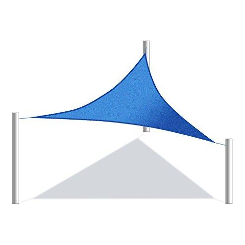 ALEKO Triangular 12'x12'x12' Waterproof Sun Shade Sail Canopy Sun Shelter Blue Color