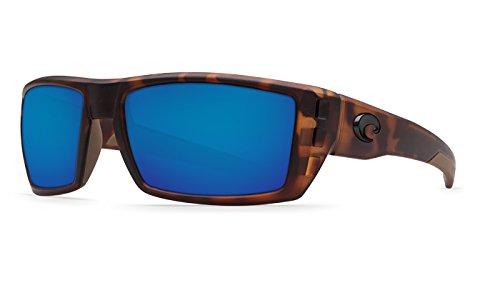Costa Rafael Sunglasses Matte Retro Tort Blue Mirror
