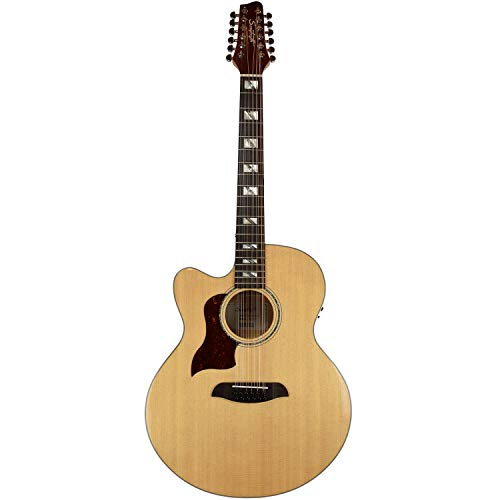 Sawtooth Maple Series Left-Handed 12-String Acoustic-Electric Cutaway Jumbo Guitar -