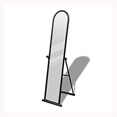 K&A Company Free Standing Floor Mirror Full Length Rectangular Black