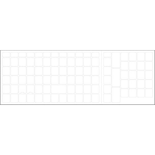 Blank keyboard stickers non transparent white background 30