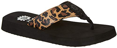 (Yellow Box Women's Kinsley Sandal, Leopard, 8 M)
