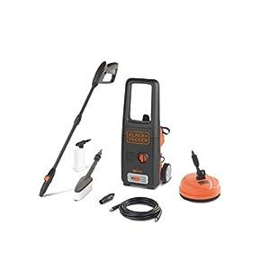 Black+Decker BXPW1400PE Idropulitrice ad Alta Pressione (1400W, 110 bar, 390 l/h) con Patio Cleaner e Spazzola Fissa, Plus 9 spesavip