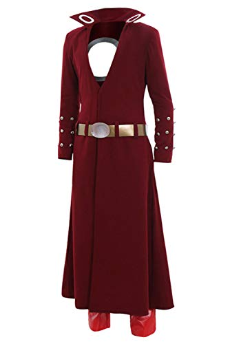 Mesodyn The Seven Deadly Sins Costume Ban Outfit Cosplay,Large Red