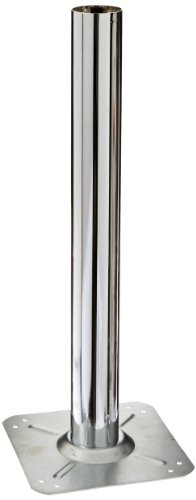 Street Chr (Oak Street Manufacturing BDB-CHR-STD Chrome Bolt Down Base with 3