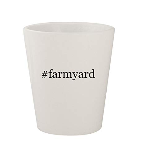 - #farmyard - Ceramic White Hashtag 1.5oz Shot Glass